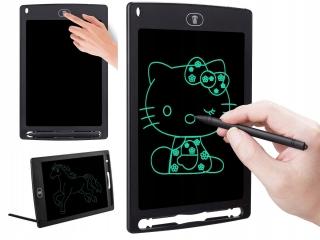 """Детский графический планшет 12"""" дюймов (ЖК-блокнот для письма) Черный"""