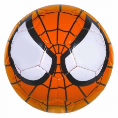 Мяч футбольный Человек Паук оранжевый