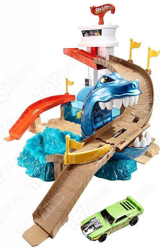 Трек Hot Wheel с акулой (машинка меняет цвет)