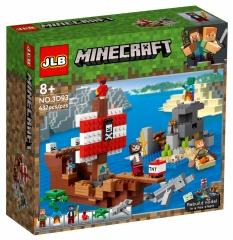 Конструктор Майнкрафт Приключения на пиратском корабле 21152 JLB NO.3D93 (432 детали)