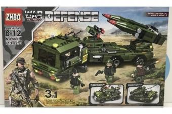 Конструктор WAR DEFENSE 3 в 1 (ZHBO NO.5517) 713 Деталей
