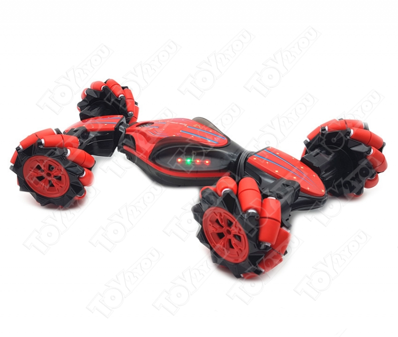 Машинка-перевертыш Weishengda Stunt Car (CV8818-83A), с управлением жестами красная