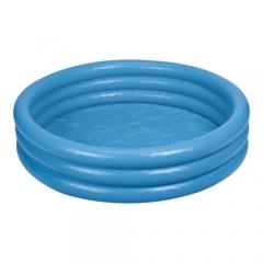 Бассейн надувной круглый с 3 кольцами 114 х 25 см, дизайн – Голубой кристалл
