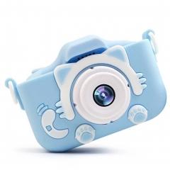 Детский цифровой фотоаппарат Childrens Fun Camera Cute Kitty, голубой