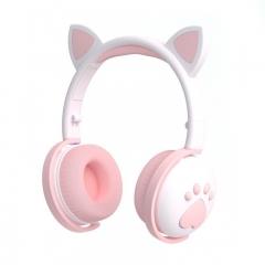 Беспроводные наушники logicbit TWS CAT-EAR BK1 с кошачьими ушами белый