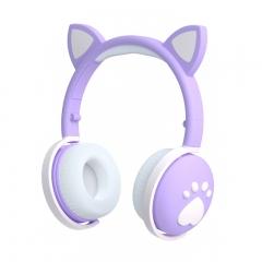 Беспроводные наушники logicbit TWS CAT-EAR BK1 с кошачьими ушами синие