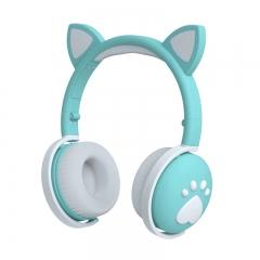 Беспроводные наушники logicbit TWS CAT-EAR BK1 с кошачьими ушами голубые