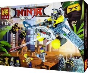 Конструктор НиндзяГо Бомбардировщик «Морской дьявол» 365 деталей LELE NinjaGo Movie 31071