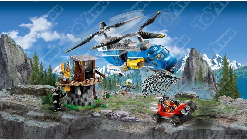Конструктор City Погоня в горах 325 деталей 60173 BELA 10863