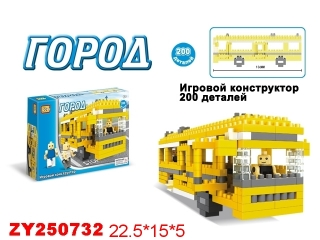 Конструктор ZYK-K0743 Автобус 200 деталей в коробке 22,5*15*5см