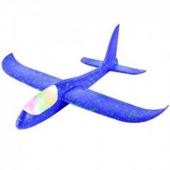 Большой Самолет - Планер с LED подсветкой 46 см Синий