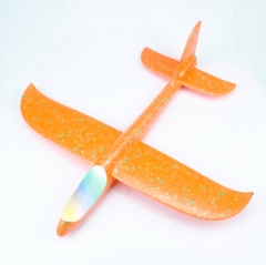 Большой Самолет - Планер с LED подсветкой 46 см Оранжевый