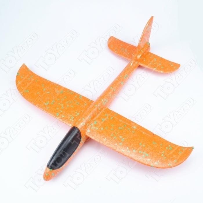 Большой Самолет - Планер 46 см Оранжевый