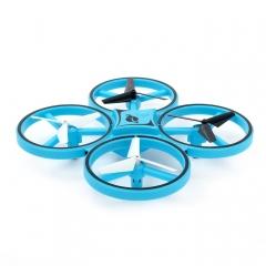 Квадрокоптер Firefly Drone с подсветкой и датчиком на руку (синий)