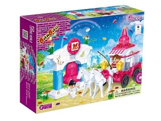 Конструктор 6107 Лошадь с каретой, 328 деталей, в коробке 33х24х7см BanBao