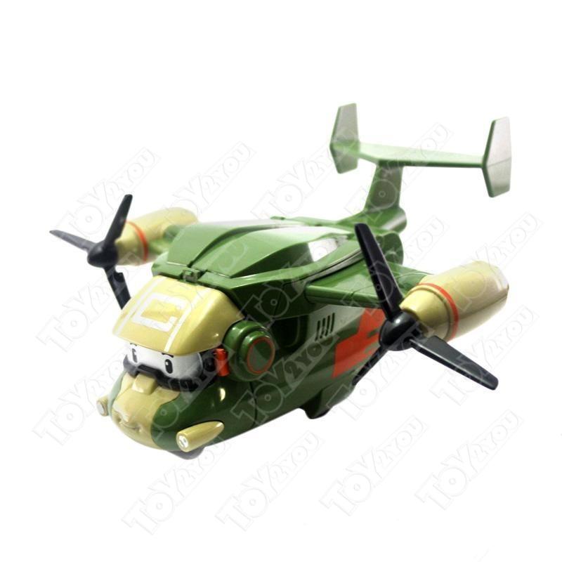 """Игрушка-трансформер """"Робокар Поли"""" - Самолетик Кэри зеленый (Robocar)"""