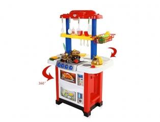 Детская двухсторонняя кухня 768A 33 предмета (вода, свет,звук)
