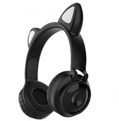 Беспроводные Bluetooth наушники Wireless Cat Ear Headphones ZW-028 (черные)