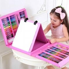 Набор художника 208 предметов с мольбертом для детей