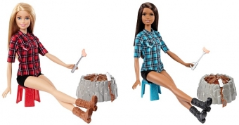 Кукла FDB43 Семья Barbie у костра Barbie