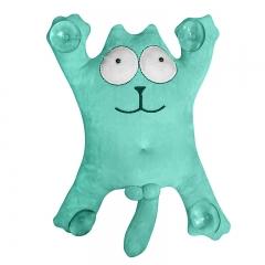 Мягкая игрушка на присосках Кот Саймон 28см большой (зеленый)