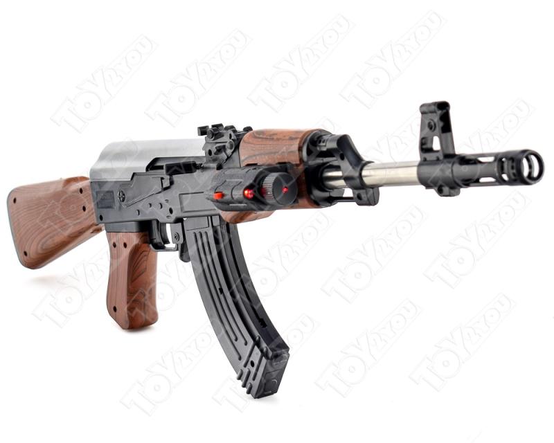 Детский Автомат Калашникова АК-47 с пульками и прицелом многозарядный