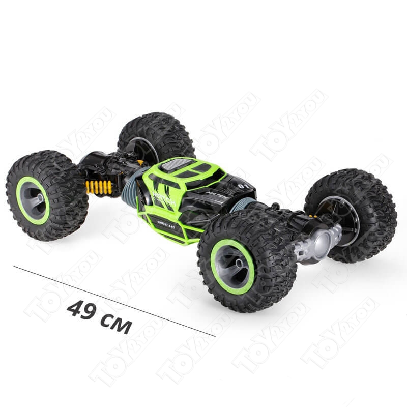 Машинка перевёртыш 49 см зеленая