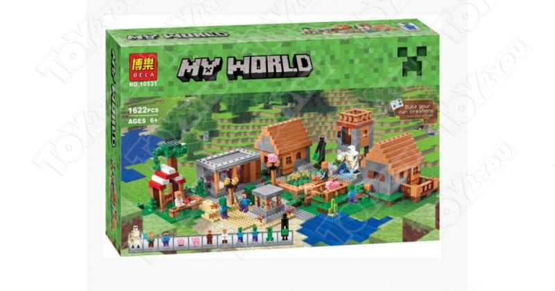 Конструктор MY World Большая деревня Майнкрафт 21128 BELA 10531(1622 детали)