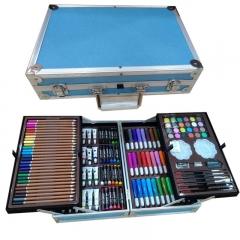 Набор художника 145 предметов в чемоданчике голубой