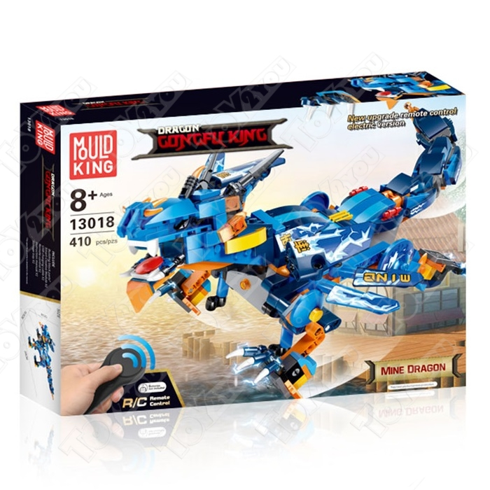 Конструктор Техникс/Нинзяго  Боевой дракон Mould King Technic/Ninjago 13018 (410 деталей) с ПДУ