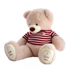 Медведь плюшевый в свитере 100 см (Я тебя Люблю)