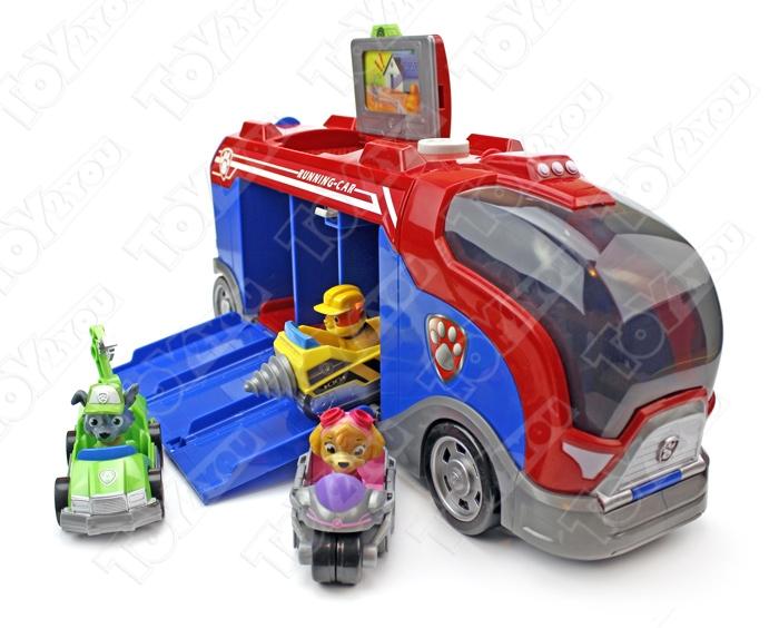 Набор игрушек Щенячий Патруль (Paw Patrol) - Офис спасателей + Автобус спасателей