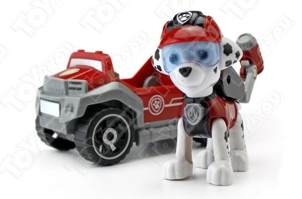 Набор игрушек Щенячий патруль - 7 героев с рюкзаками-трансформерами и большими машинками