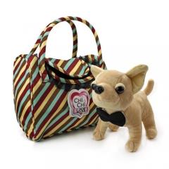 Мягкая собачка Чи-Чи Лав Чихуахуа с галстуком-бабочкой и сумочкой (20 см)