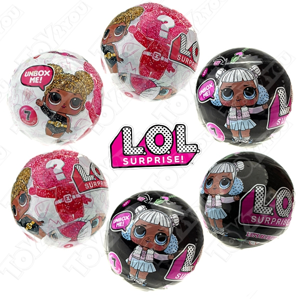 Кукла-сюрприз LOL в шарике - набор из 6 шариков серии 5 и Black