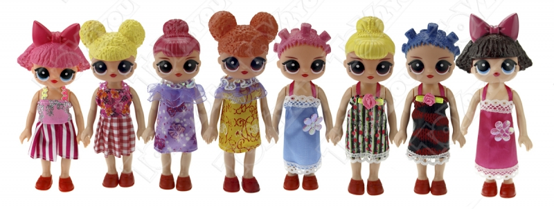 "Набор кукол ""8 подружек ЛОЛ"" - 15 см"