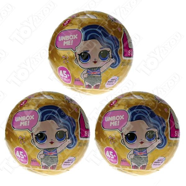 Кукла-сюрприз LOL в шарике серия 4 - набор из 3 шариков