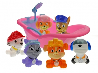 Набор игрушек Щенячий Патруль (Paw Patrol) - Набор для купания Щенки-пищалки