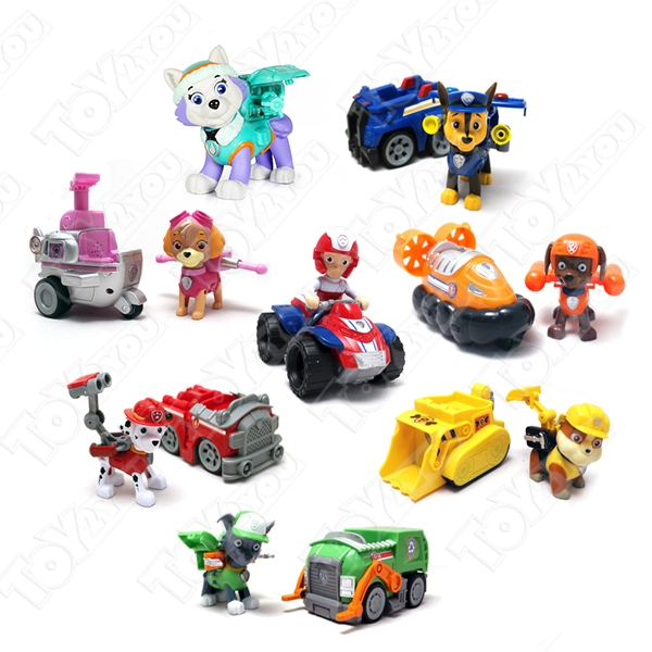 Набор игрушек Щенячий патруль (Paw Patrol) - 8 героев с транспортом