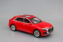 Металлическая инерционная Модель автомобиля AUDI Q8 220x85 мм, красный в коробке AQ8RK