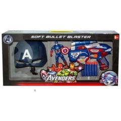 Набор маска, фигурка и пистолет с пульками - Капитан Америка