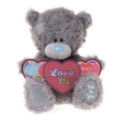 Мишка G01W3348 Тедди Me to You 25 см с сердцем Я тебя люблю