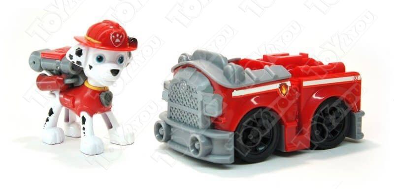 Щенячий патруль (Paw Patrol) - Маршал с рюкзаком трансформером и Пожарная машинка