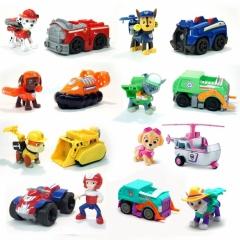 Набор игрушек Щенячий патруль - 8 героев с машинками и рюкзаками трансформерами