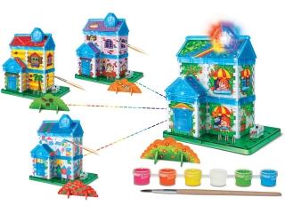 Научный опыт 37209 Дом с красками, на батарейках, в коробке