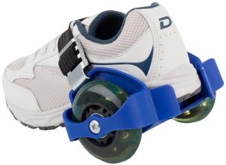 Ролики на обувь синие