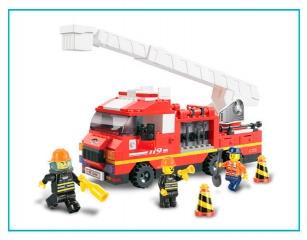 Конструктор M38-B0221 Пожарные спасатели, 270 деталей, в коробке 32*25*5,5см