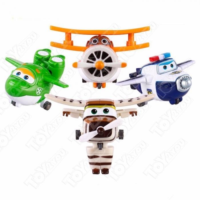 Набор игрушек трансформеров Супер Крылья (Super Wings) - 4 шт