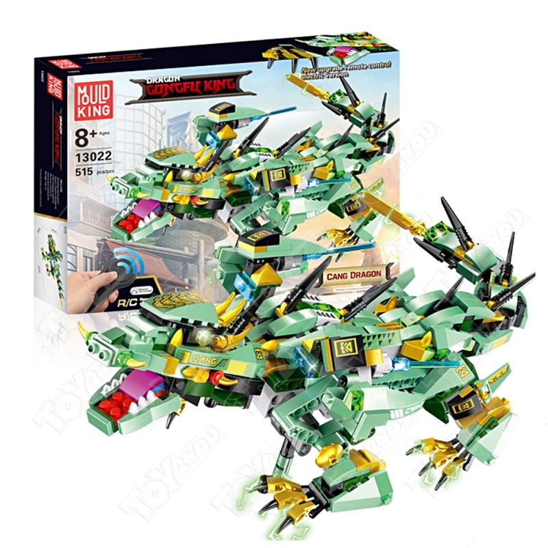 Конструктор Техникс/Ниндзяго Зеленый дракон Mould King 13022 (515 деталей) с ПДУ