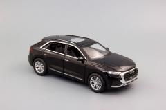 Металлическая инерционная Модель автомобиля AUDI Q8 160x65 мм, чёрный